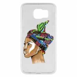 Чохол для Samsung S6 African girl in a color scarf