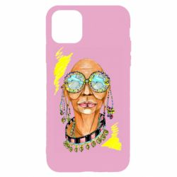 Чехол для iPhone 11 Pro Max African hippie woman in blue glasses