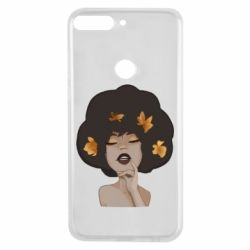 Чохол для Huawei Y7 Prime 2018 Afro girl in autumn shades - FatLine