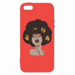 Чохол для iphone 5/5S/SE Afro girl in autumn shades