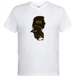 Мужская футболка  с V-образным вырезом After all this time? - FatLine