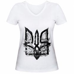 Женская футболка с V-образным вырезом Air coat of arms