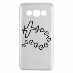 Чехол для Samsung A3 2015 Airplane and hearts