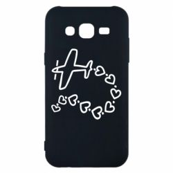 Чехол для Samsung J5 2015 Airplane and hearts