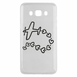 Чехол для Samsung J5 2016 Airplane and hearts