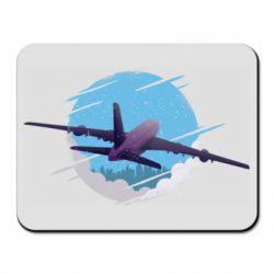 Коврик для мыши Airplane and sky