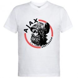 Чоловіча футболка з V-подібним вирізом Ajax лого