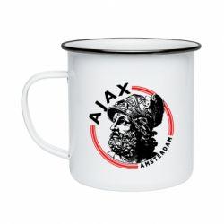 Кружка емальована Ajax лого