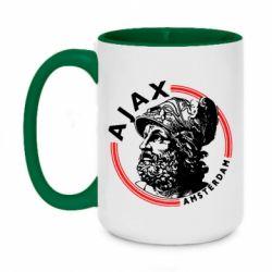 Кружка двоколірна 420ml Ajax лого