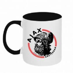Кружка двоколірна 320ml Ajax лого