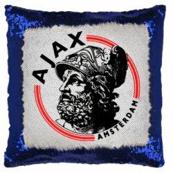 Подушка-хамелеон Ajax лого