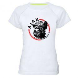 Жіноча спортивна футболка Ajax лого