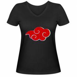 Женская футболка с V-образным вырезом Akatsuki Naruto