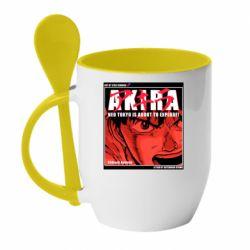 Кружка з керамічною ложкою Akira