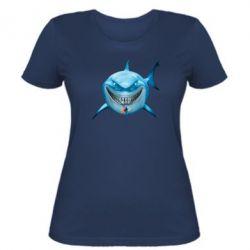 Жіноча футболка Акула посміхається