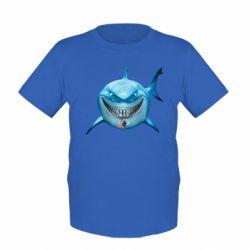 Детская футболка Акула улыбается