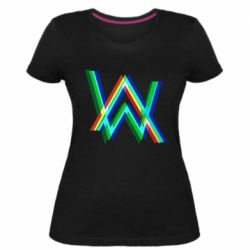 Жіноча стрейчева футболка Alan Walker multicolored logo