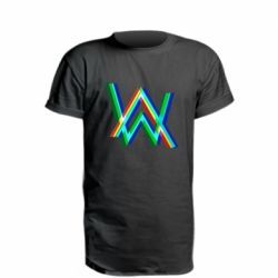 Удлиненная футболка Alan Walker multicolored logo