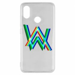 Чехол для Xiaomi Mi8 Alan Walker multicolored logo