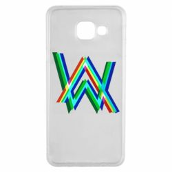 Чехол для Samsung A3 2016 Alan Walker multicolored logo