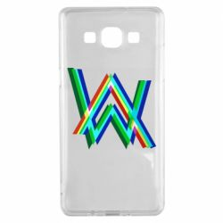 Чехол для Samsung A5 2015 Alan Walker multicolored logo
