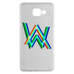Чехол для Samsung A5 2016 Alan Walker multicolored logo