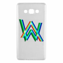 Чехол для Samsung A7 2015 Alan Walker multicolored logo