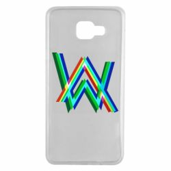 Чехол для Samsung A7 2016 Alan Walker multicolored logo