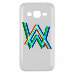 Чехол для Samsung J2 2015 Alan Walker multicolored logo
