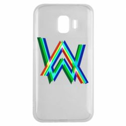 Чехол для Samsung J2 2018 Alan Walker multicolored logo