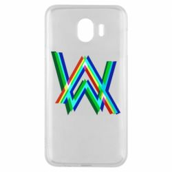 Чехол для Samsung J4 Alan Walker multicolored logo