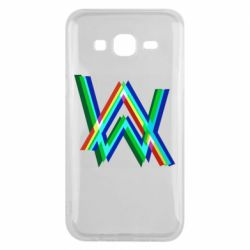 Чехол для Samsung J5 2015 Alan Walker multicolored logo