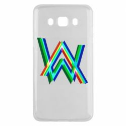 Чехол для Samsung J5 2016 Alan Walker multicolored logo