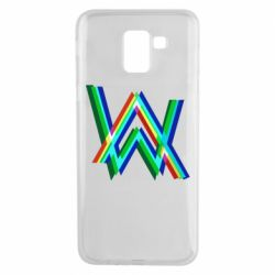 Чехол для Samsung J6 Alan Walker multicolored logo