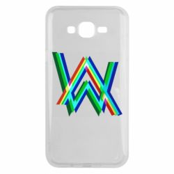 Чехол для Samsung J7 2015 Alan Walker multicolored logo