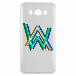 Чехол для Samsung J7 2016 Alan Walker multicolored logo