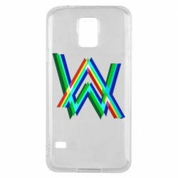 Чехол для Samsung S5 Alan Walker multicolored logo