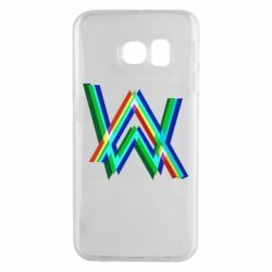 Чехол для Samsung S6 EDGE Alan Walker multicolored logo
