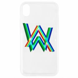 Чехол для iPhone XR Alan Walker multicolored logo