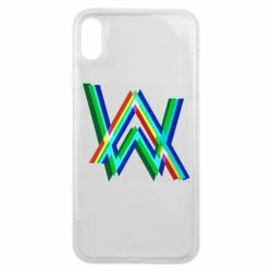 Чехол для iPhone Xs Max Alan Walker multicolored logo