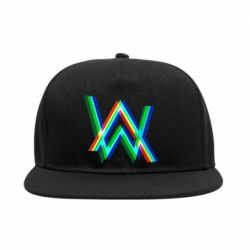 Снепбек Alan Walker multicolored logo