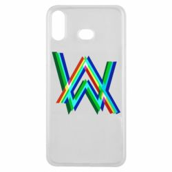 Чехол для Samsung A6s Alan Walker multicolored logo