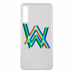 Чехол для Samsung A7 2018 Alan Walker multicolored logo