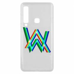 Чехол для Samsung A9 2018 Alan Walker multicolored logo