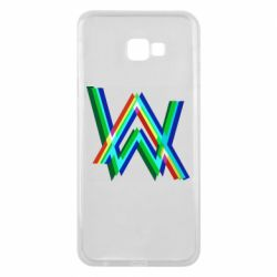 Чехол для Samsung J4 Plus 2018 Alan Walker multicolored logo