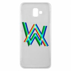 Чехол для Samsung J6 Plus 2018 Alan Walker multicolored logo