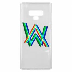 Чехол для Samsung Note 9 Alan Walker multicolored logo