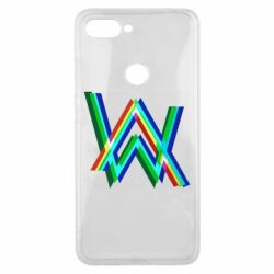 Чехол для Xiaomi Mi8 Lite Alan Walker multicolored logo