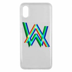 Чехол для Xiaomi Mi8 Pro Alan Walker multicolored logo