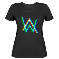 Жіноча футболка Alan Walker multicolored logo